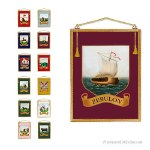 12Royal Arch Banners. Superbs traditional pictures. High quality fringes, fabric and canvas. Brass cross rod.  Freemasonry