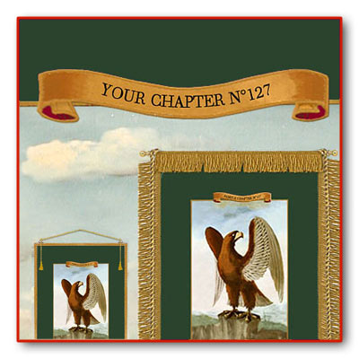 Personalize your Banners with the Name of your Chapter. 5 Large Royal Arch Banners.