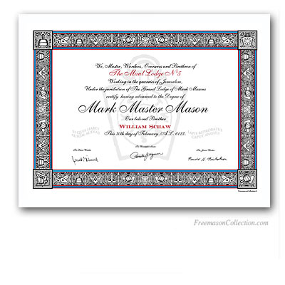 Master certificate awards car interior design for Masonic certificate template