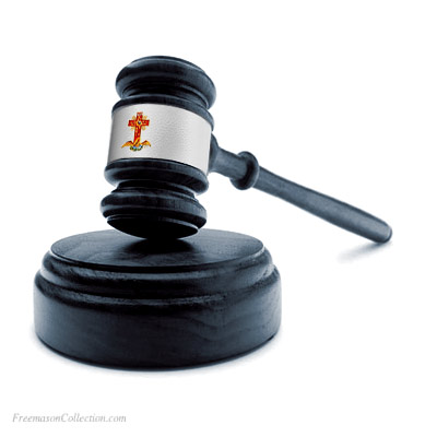Rose+Croix Gavel. Handcrafted. Hand-Turned. L:27cm/10.6in. Genuine Acacia Wood. Freemasonry