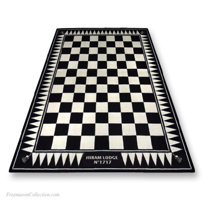 Personalized Lodge carpet. Included: personalization with the name of your Lodge. Anti-stain, anti-fouling. Freemasonry. Freemasonry