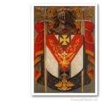 Knight Rose Croix Symbolic Coat of Arms. Freemasonry