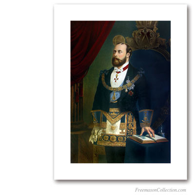 Edward VII with full regalia. Masonic Paintings
