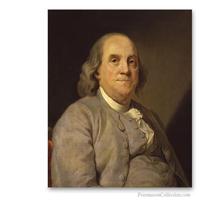 Benjamin Franklin, One of the Founding Fathers of the United States of America. Masonic Art