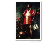Grand Master of The Knights of The Order of Malta. Antoine de Favray, XVIIIth. Issued on Art Canvas. Freemasonry
