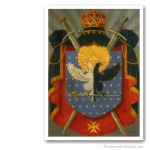 Knight Kadosh Symbolic Coat of Arms. Issued on Art Canvas. Freemasonry