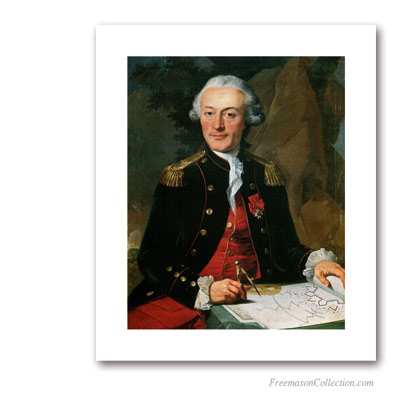 Soldier with Compasses. Masonic Paintings