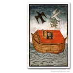 Noah Ark, circa 1460. Issued on Art Canvas. Freemasonry