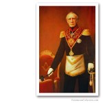 Prince Frederic of the Netherlands as Grand Master. Early XIXth Issued on Art Canvas. Famous Freemasons. Freemasonry