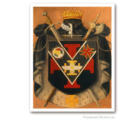 Prince of The Royal Secret Symbolic Coat of Arms  Circa 1930