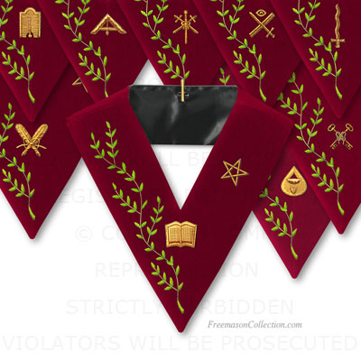 Set of 9 Officers Collars 14° Degree , Scottish Rite