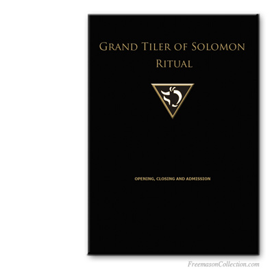 Grand Tiler of Solomon Ritual. AMD, Allied Masonic Degrees.