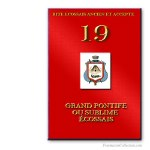 19° Grand Pontife. Ancient and Accepted Scottish Rite. Freemasonry