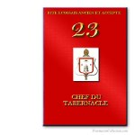 23° Chef du tabernacle. Ancient and Accepted Scottish Rite. Freemasonry