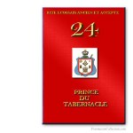 24° Prince du Tabernacle. Ancient and Accepted Scottish Rite. Freemasonry
