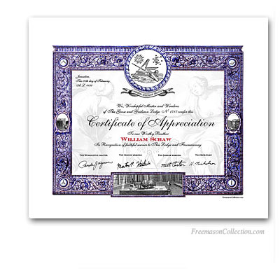 masonic certificate template - masonic certificates awards and diplomas freemason