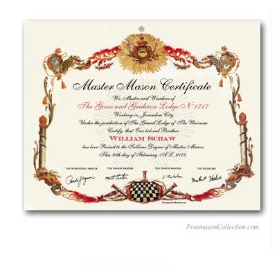 Masonic certificate template free boatremyeaton masonic certificate template free yelopaper Images